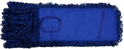 Microfiber Dust Mops, Blue Loop Pocket Backing, 24""