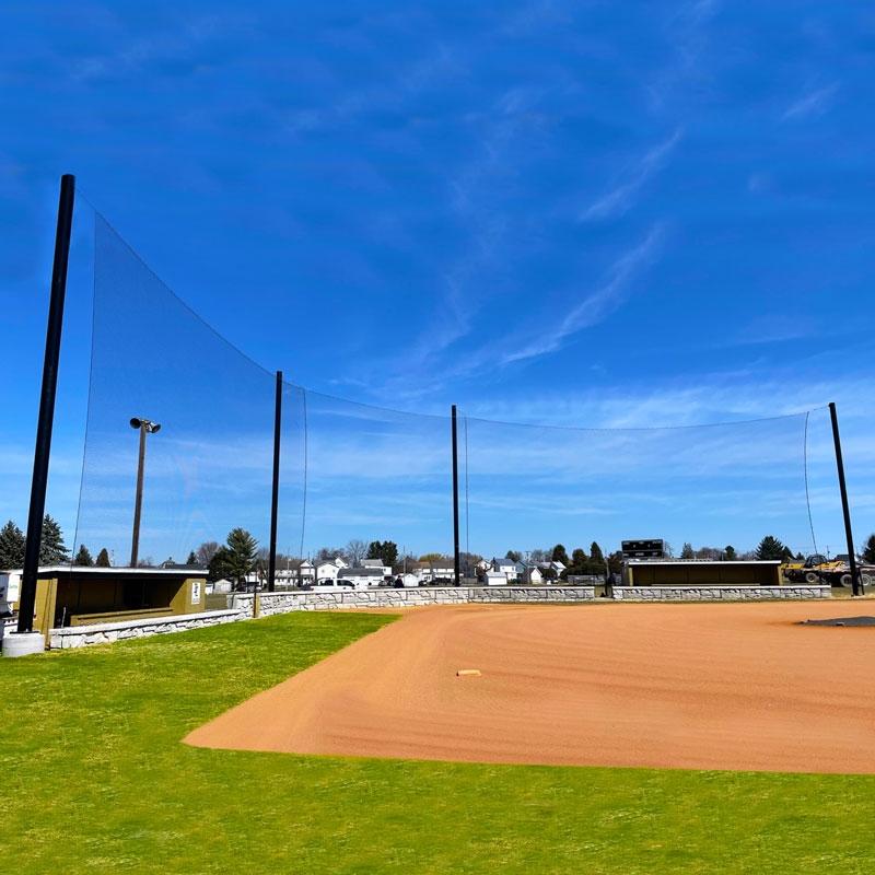 Baseball Backstop Netting Cable Design