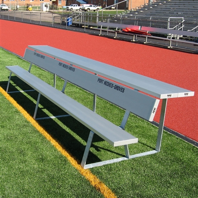 Portable Team Bench with Shelf