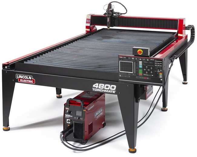 Lincoln Torchmate 4800 4ft x 8ft CNC Plasma Cutting Table with FlexCut 125 CE Plasma Cutter
