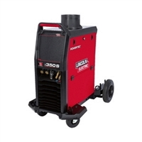 Image showing the new Lincoln Electric Powertec i 350 S MIG Welding machine in red