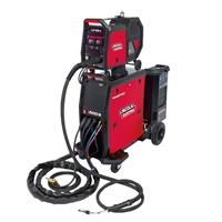 Image showing the new Lincoln Electric Powertec i 500 S MIG Welding machine in red