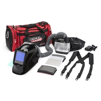 Lincoln Viking 3350 P A P R Powered Air Purifying Respirator Helmet Kit in black