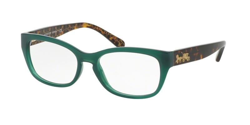 Coach Green Eyeglass Frames : Coach 6104 Eyeglasses 5451 Green
