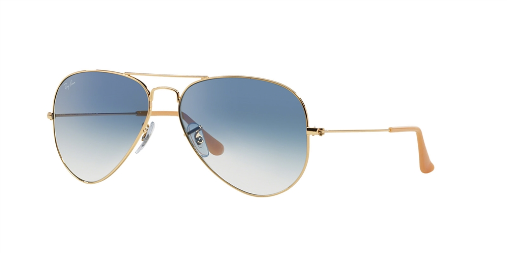 ray ban metal aviator