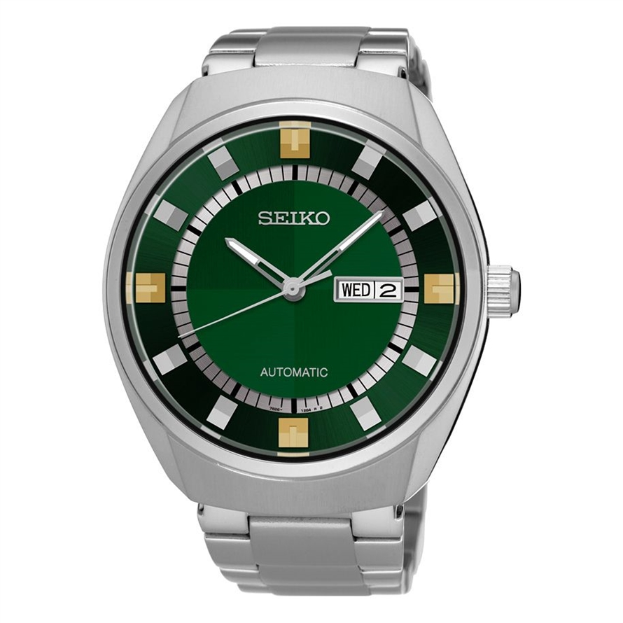 seiko recraft snkn77 green dial with date and day display