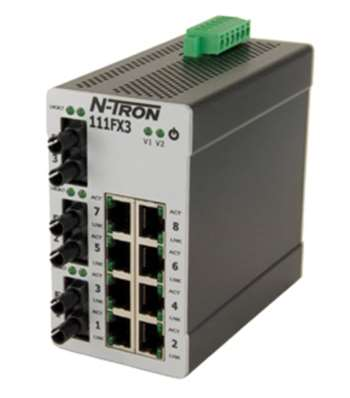 N-Tron 111FX3 Industrial Ethernet Switch