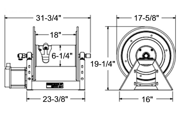 Coxreels 1125-4-325-EA Hose Reel, 115V Electric, 325 Ft, No Hose