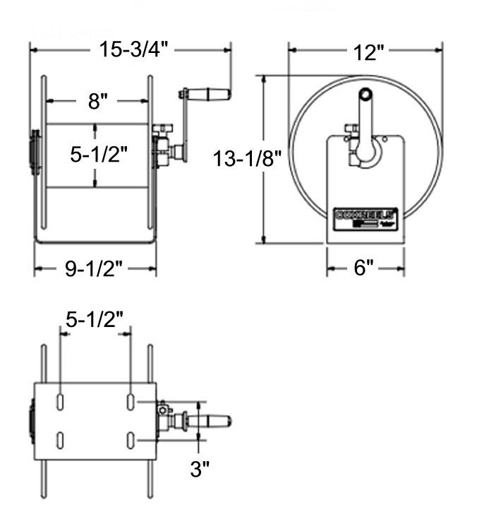 Coxreels 112Y-8 Storage Reel, No Hose