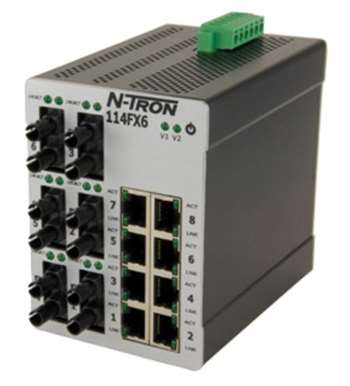 N-Tron 114FXE6 Industrial Ethernet Switch