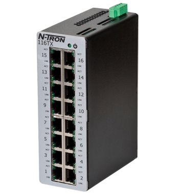 N-Tron 16 Port Industrial Ethernet Switch - 116TX