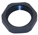 "Mencom 212PA/SW 1/2"" NPT Black Plastic Locking Nut"