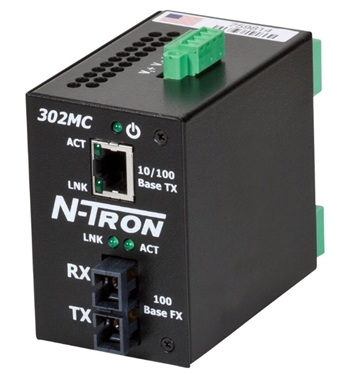 N-Tron Industrial Media Converter w/ N-View OPC Server - 302MCE-N-SC-15