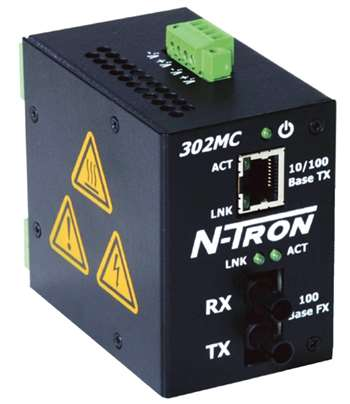N-Tron Industrial Media Converter w/ N-View OPC Server - 302MCE-N-ST-40