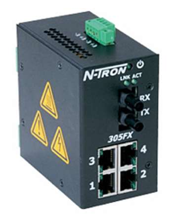 N-Tron 305FX Industrial Ethernet Switch w/ N-View OPC Server