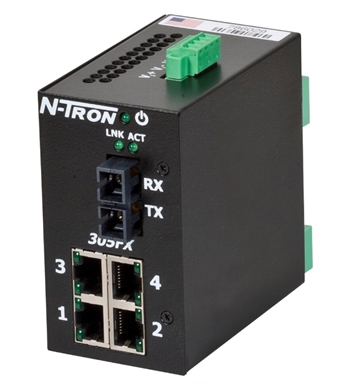 N-Tron 305FXE Industrial Ethernet Switch w/ N-View OPC Server