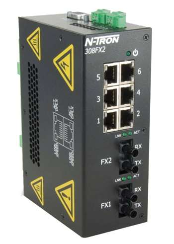 N-Tron 308FX2 Industrial Ethernet Switch w/ 2 KM multimode cable