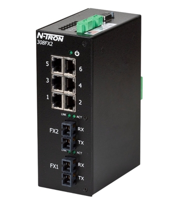 N-Tron 308FXE2 Industrial Ethernet Switch w/ N-View OPC Server