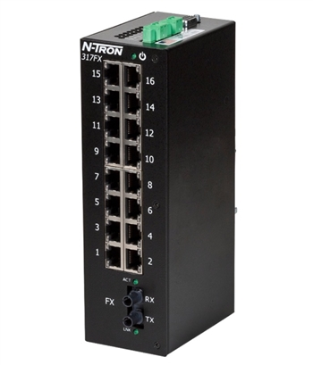 N-Tron 317FX Industrial Ethernet Switch w/ N-View OPC Server
