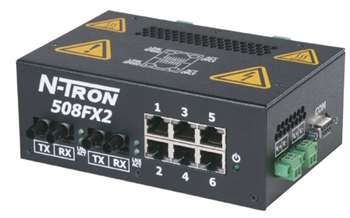 N-Tron Industrial Ethernet Switch - 508FX2-ST