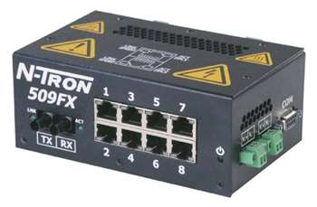 N-Tron Industrial Ethernet Switch w/ N-View OPC Server - 509FXE-N-ST-15