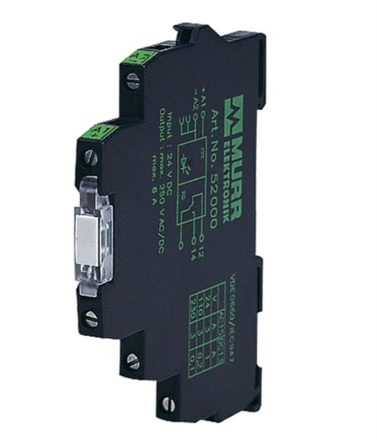 MURR 52050 12V DC Input, 230V AC/DC Output 6 A Relay