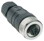 Lumberg Automation M12 Connector, 3 Pin, Female Straight, PG 9