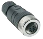 Lumberg Automation M12 Connector, 4 Pin, Female Straight, PG 9