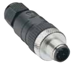 Lumberg Automation M12 Connector, 3 Pin, Male Straight, PG 9