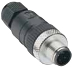 Lumberg Automation M12 Connector, 4 Pin, Male Straight, PG 9