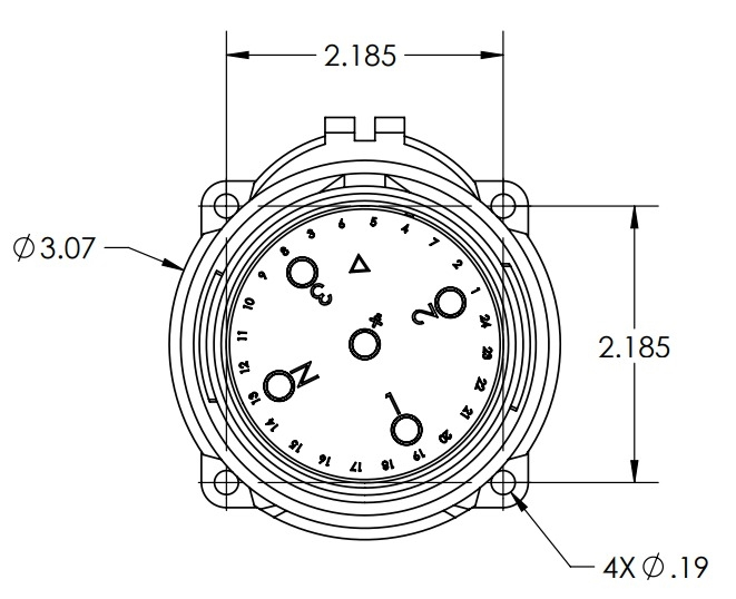 Meltric 63 68073 Dsn60 60a 250v Male Inlet