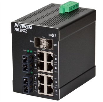 Fully Managed 7012FXE2 Industrial Ethernet Switch