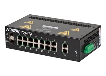 N-Tron 18 Port Gigabit Capable Industrial Ethernet Switch - 7018TX