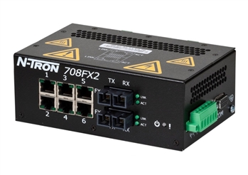 N-Tron 708FXE2 Industrial Ethernet Switch