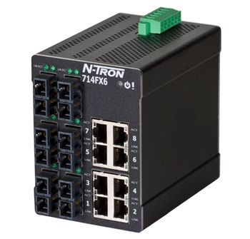 Ethernet Switch with 6 SC Style Fiber Ports