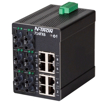 N-Tron 714FXE6 Fully Managed Ethernet Switch