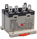 Kacon 730-2QR-220VAC Electro Mechanical Power Relay, DIN Rail Mount