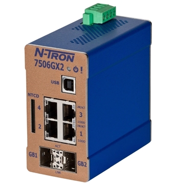 N-Tron 6 Port Industrial Ethernet Switch - 7506GX2