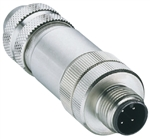 Lumberg Automation Ethernet M12 Connector, 4 Pin, Male Straight, Shieldable
