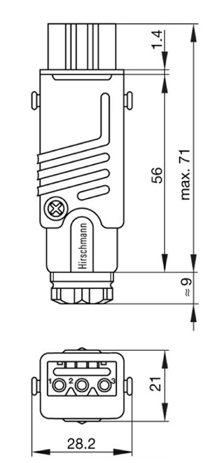 932140 106 3?1411453809 hirschmann stak 3 n grau grey 932140 106 hirschmann plug wiring diagram at readyjetset.co