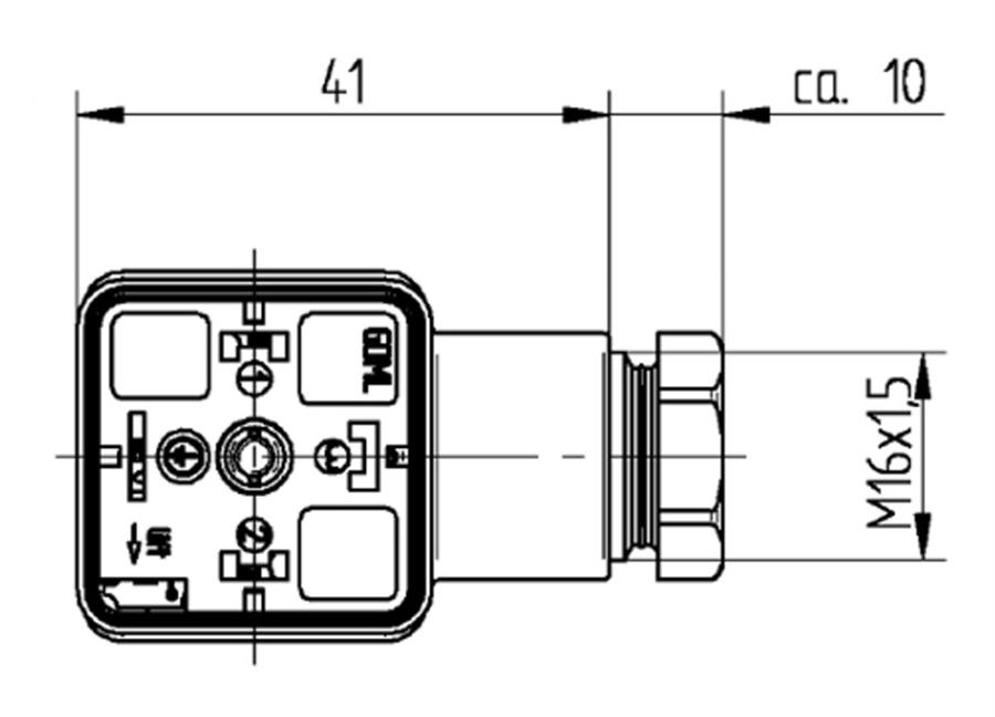 hirschmann din 43650 gdm form a m16  250v  bridge rectifier