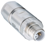 Lumberg Automation M12 Power Connector, 5 Pole, Male Straight, L-Coded