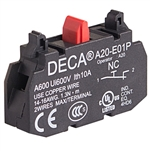 Deca 1 NC Contact Block for A20 Series Push Buttons