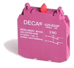 Deca 2 NC Contact Block for A20 Series Push Buttons
