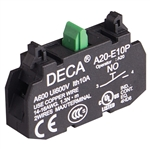 Deca 1 NO Contact Block for A20 Series Push Buttons