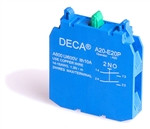 Deca 2 NO Contact Block for A20 Series Push Buttons