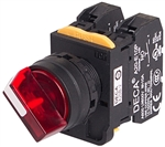 Deca A20F-2E01Q3R 22 mm Selector Switch, 2 Position, Red