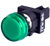 Deca 22 mm Green LED Pilot Lamp, Marking Plate Head, 110V