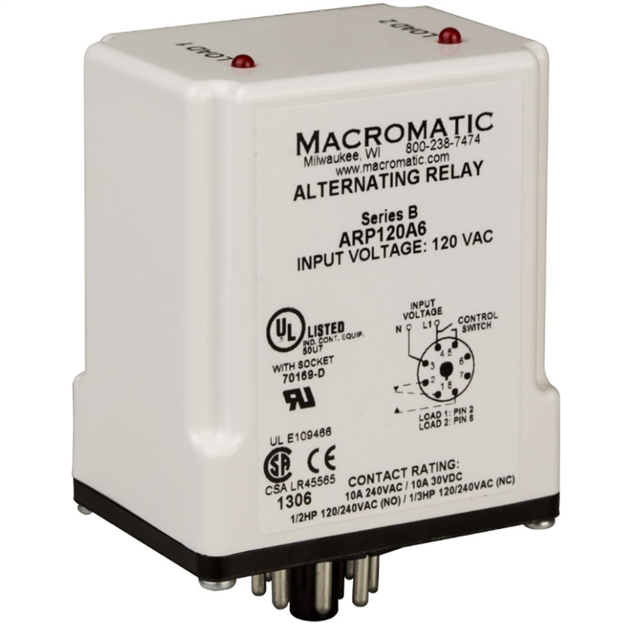 Macromatic Arp012a3 12v Duplexor Alternating Relay No Switch Nc Contacts Alternative Views