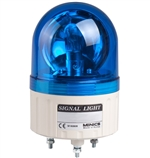 Menics 86mm Beacon Light, 24V, Blue, Rotating
